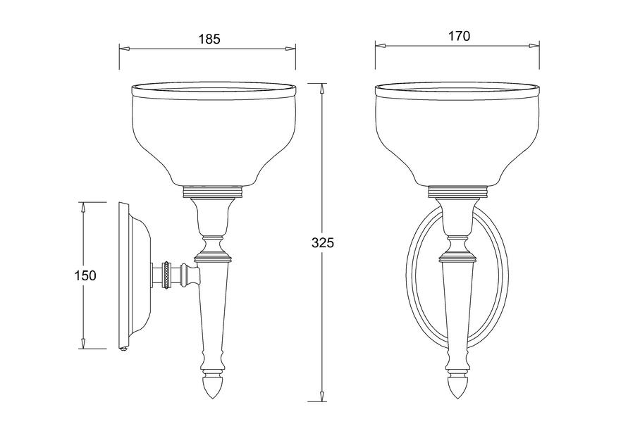 Декоративный светильник с овальным основанием и матовым абажуром by ARCADE