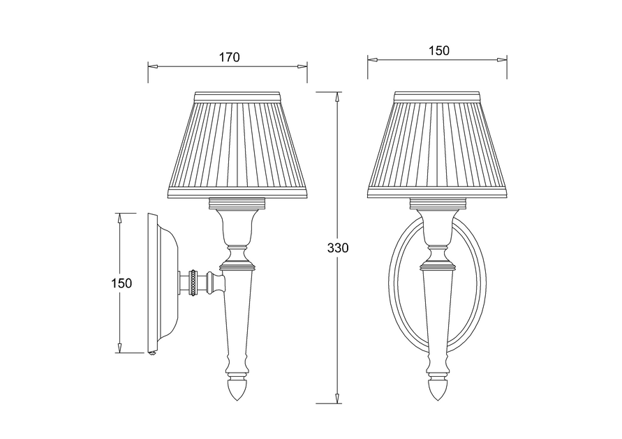 Декоративный светильник с белым абажуром из шелка by ARCADE